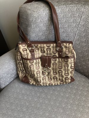 Top Original Aigner Logo Canvas Tasche mit 3Fächern