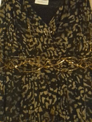 top pailetten gold sexy leoprint