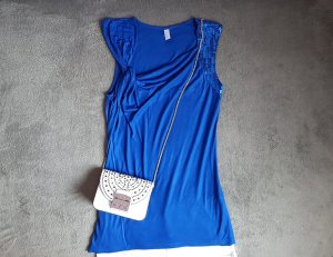 Vero Moda Cowl-Neck Top blue-dark blue viscose
