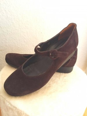 Top Paul Green Slipper Schuhe Ballerina Echt Wildleder gr 41  7.5