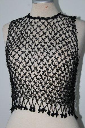 Haut en crochet noir
