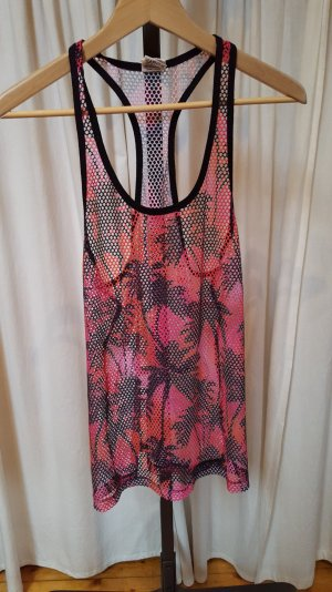 Top PINK VICTORIA'S SECRET xs Palmenprint Mesh