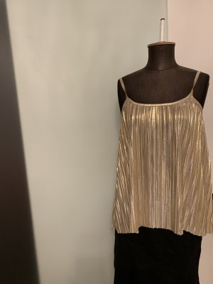Top Plissee in Gold Gr 36 38 S von H&M