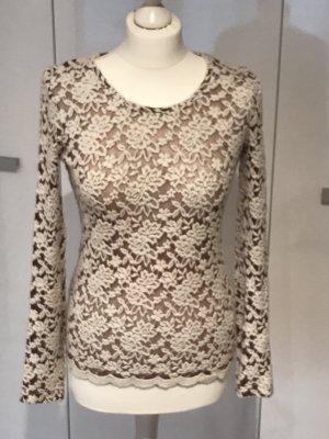 Haut tricotés blanc-chameau