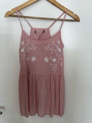 Top rosa mit streifen und Blumenverzierung NEU