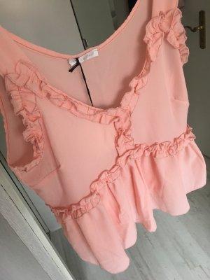 Top rosa Volants
