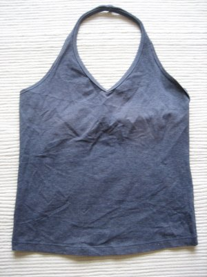 H&M Backless Top steel blue
