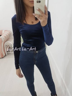 Bodysuit Blouse dark blue