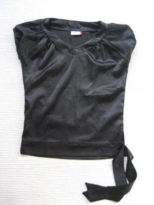 top satin schwarz gr. s 36/ m 38 beatwear