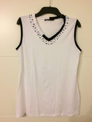 CPM the Collection! Camiseta sin mangas blanco-negro Viscosa