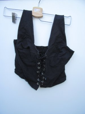 Top schwarz cropped Vintage Retro Gr. M
