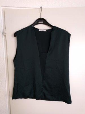 Top schwarz glänzend Zara Collection W&B , EUR/USA L