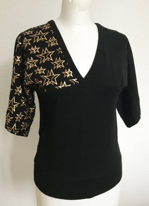 Orsay Top black-gold-colored cotton
