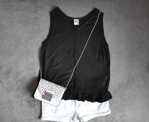 Vero Moda Haut à basque noir tissu mixte