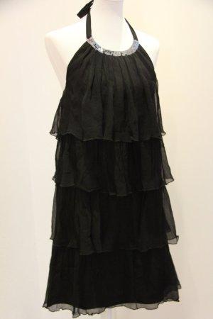 TOP schwarzes Abendkleid Cocktailkleid von BE LOUNGED Größe 36, 100% Seidenchiffon