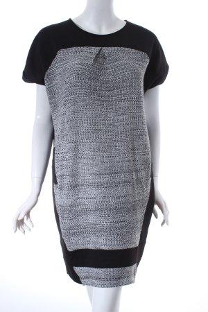 Top Secret Kleid schwarz-weiß Webmuster klassischer Stil
