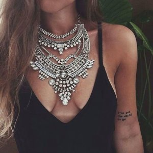 Top Seller 2018 Halskette Collier Kette Kristall Silber