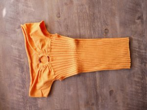 Apart Top spalle scoperte arancione Cotone