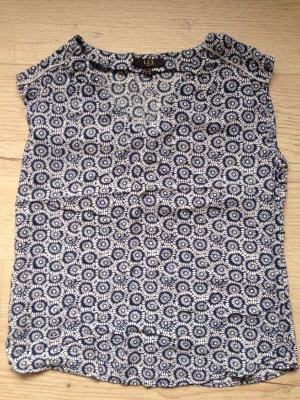 Top Shirt 123 Paris neu blau V-Ausschnitt Gr 36