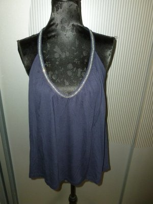 Top Shirt blau Steinchen H&M