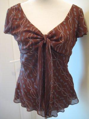 H&M Maglia con scollo a V marrone-grigio ardesia