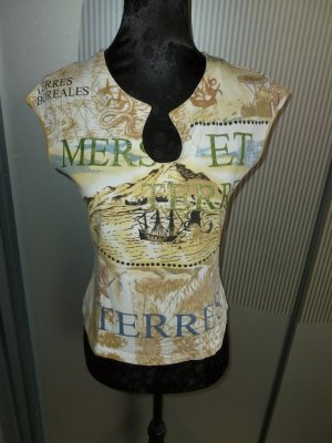 Top Shirt braun weiß Collection