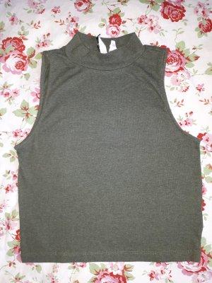 H&M Divided Camisa acanalada caqui
