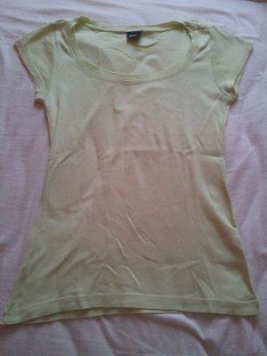 Top Shirt Gina Tricot gelb hellgelb Pastellgelb blassgelb