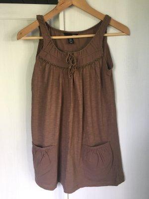 H&M Top de tirantes marrón claro