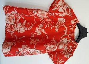 Top/ Shirt mit Blumen-Print, Rot-Schwarz-Weiß, Größe S, neuwertig!