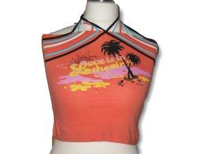 Top, Shirt, Orange, Sommer, Größe S
