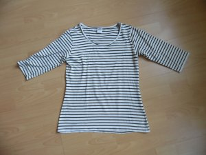 Vero Moda Gestreept shirt wit-groen-grijs Katoen