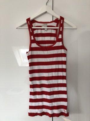 Top / Shirt rot-weiß Größe M von Abercrombie & Fitch