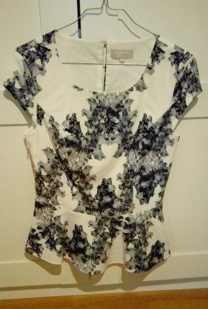 Top Shirt Schößchentop weiß grau schwarz von Zalando Collection, Gr. XS