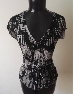 Top Shirt Tunika in Schwarz/Weiss von MEXX Gr.M w.38-40