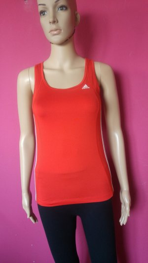 Adidas T-shirt de sport orange fluo-blanc