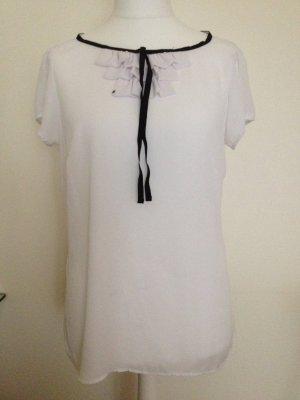 Top /Shirtmit schwarzer Schleife Gr 42