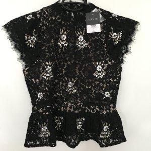 Topshop Lace Blouse black