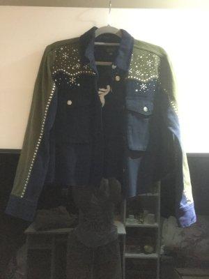 Topshop Jacket green grey-steel blue