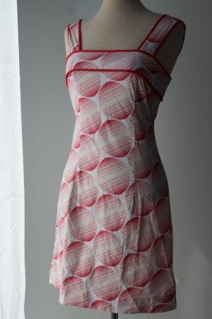 Top Shop Kleid figurbetont rot weiß Punkte Gr. 38 S M Sommerkleid Kleid kurz Trägerkleid