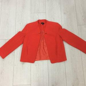 Topshop Blazer court rouge polyester