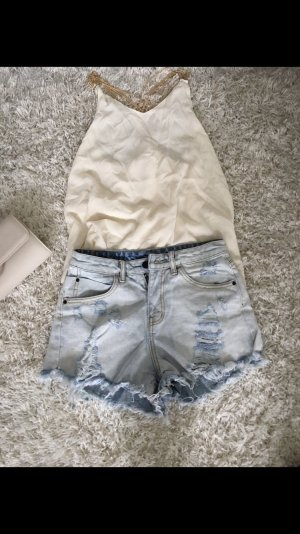 Top shorts jeans neu outfit s sommer party