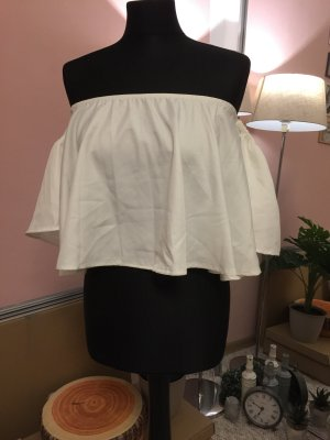 One Shoulder Top white