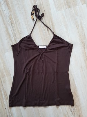 Orsay Halter Top brown-dark brown polyester