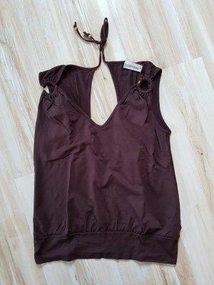 Top schiena coperta marrone-marrone scuro Cotone