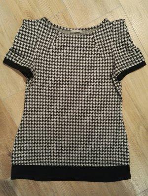 Top / Sommertop / Shirt / Oberteil / Hahnentritt / schwarz weiß /
