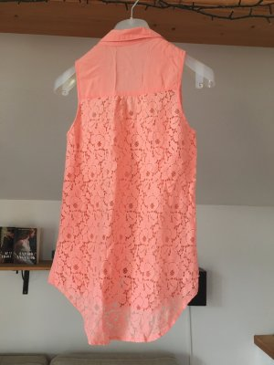 Bershka Blouse-chemisier saumon-orange viscose