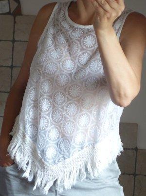 Mesh Shirt white-natural white cotton