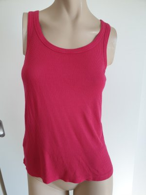 Stefanel Top basic rosso lampone