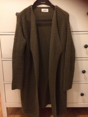 Cartoon Coarse Knitted Jacket olive green